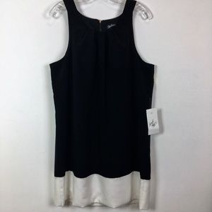 Oleg Cassini sleeveless dress black white size 12